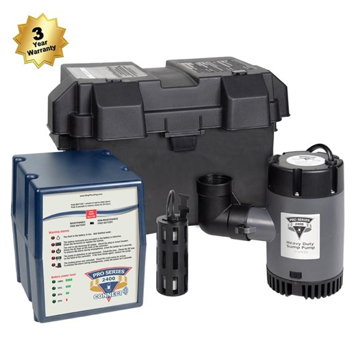 phcc pro series 2400 stop flooding Sump Pump Battery Pack For